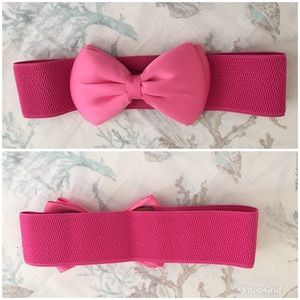 Accessories - 🔥Pink bow snap button belt